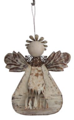 Metal Angel Ornament (Choice of Four)