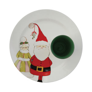 Santa Claus is Coming to Town Stoneware Cup and Plate