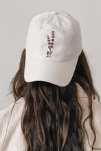 Load image into Gallery viewer, Lavender Hand Embroidered Dad Hat