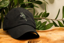 Load image into Gallery viewer, Poppy & Leaves Floral Hand-Embroidered Dad Hat