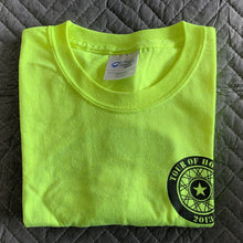 Load image into Gallery viewer, 2013 Shirt, black ink on popular hi-viz