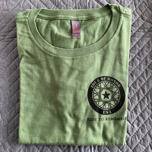 2015 Shirt, black ink on military green