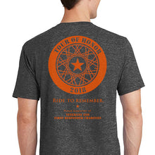 Load image into Gallery viewer, 2018 Shirt, orange ink on grey heather