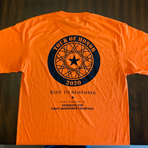 2020 Shirt, black on orange