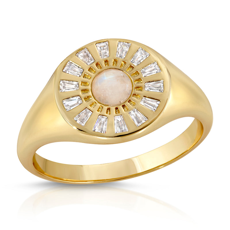 Radiant Signet Ring - Moonstone