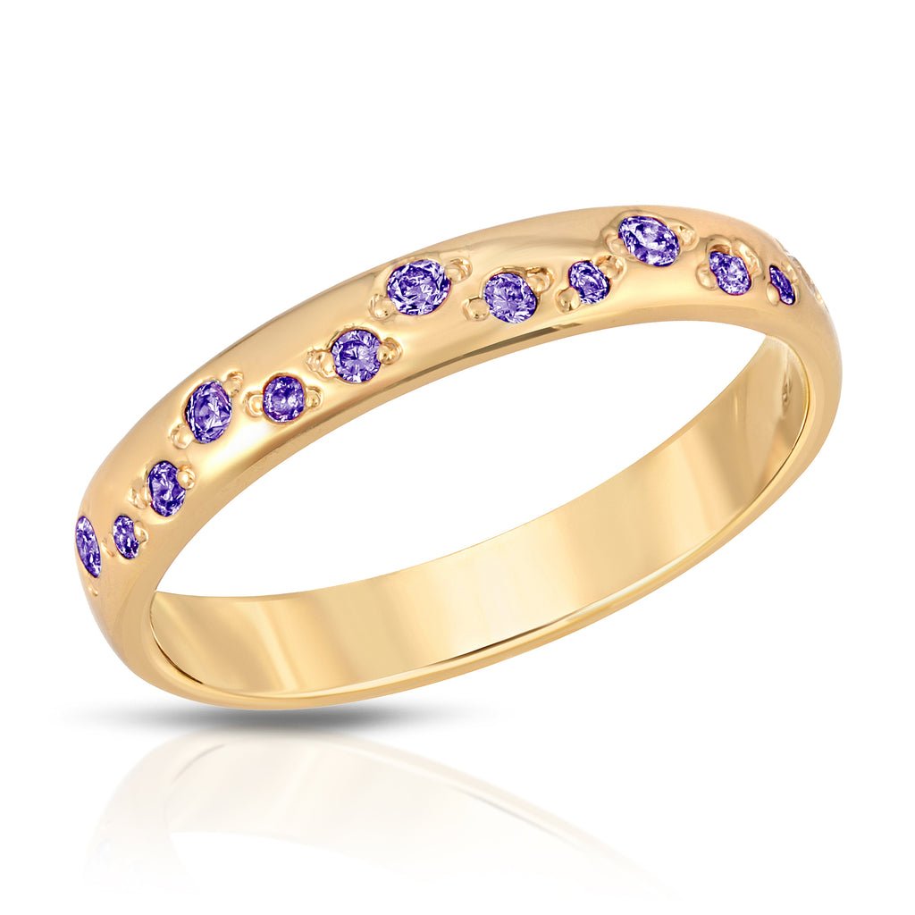 Galaxy Ring - Amethyst cz (February)