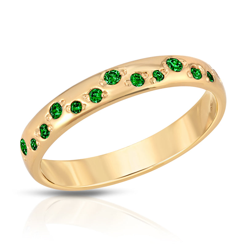 Galaxy Ring - Emerald cz (May)