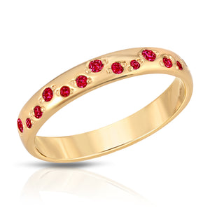 Galaxy Ring - Ruby cz (July)