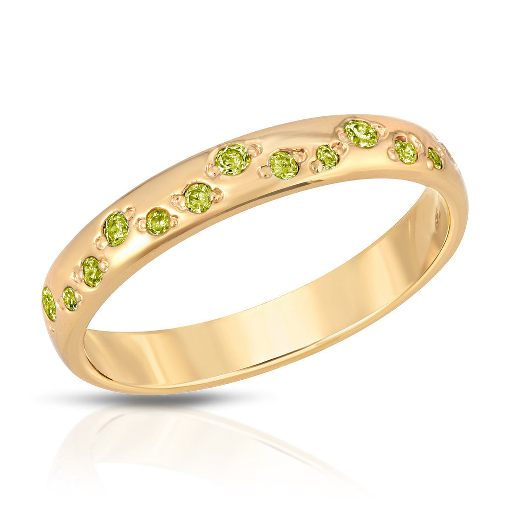 Galaxy Ring - Peridot cz (August)