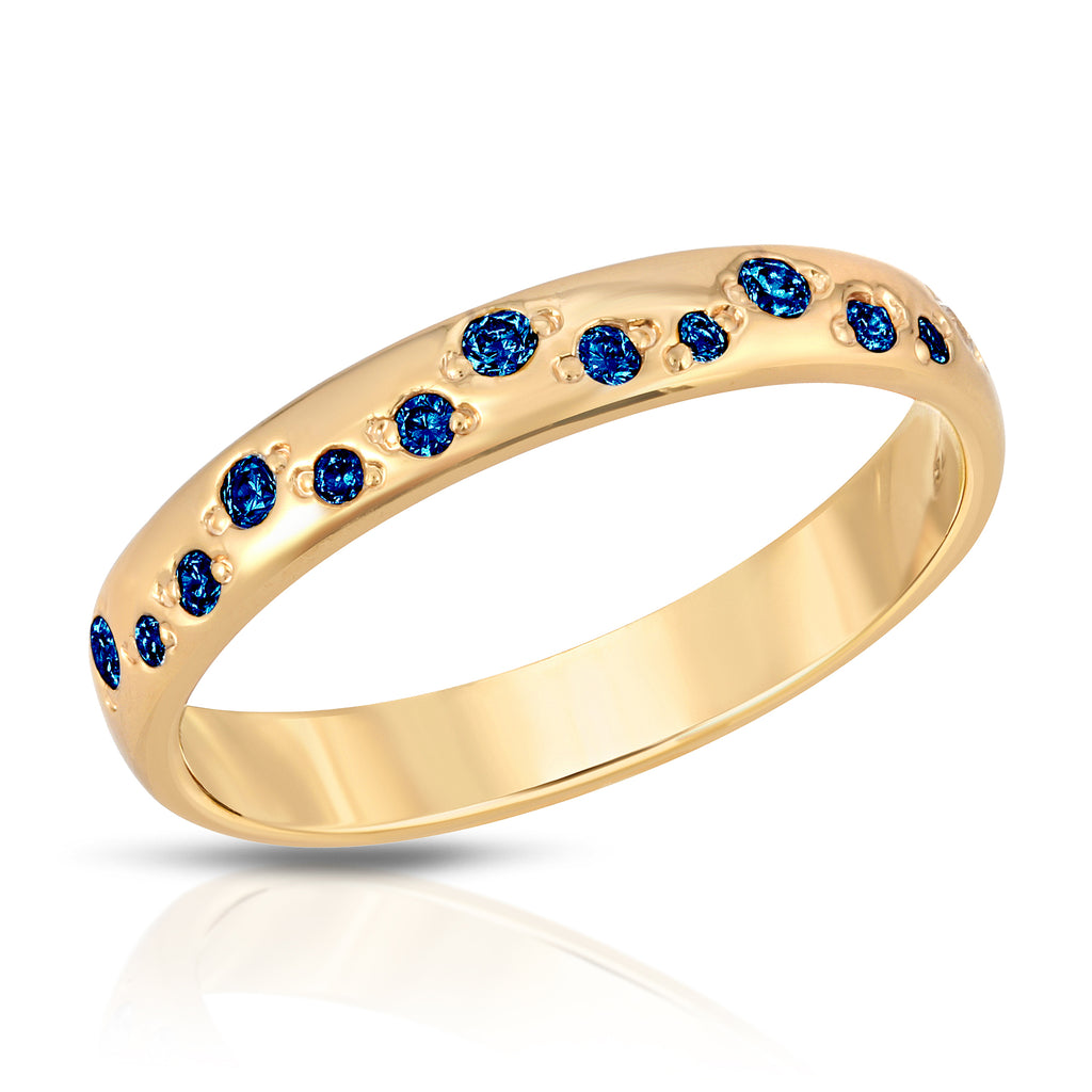 Galaxy Ring - Blue Sapphire cz (September)
