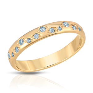 Galaxy Ring - Blue Topaz cz (December)