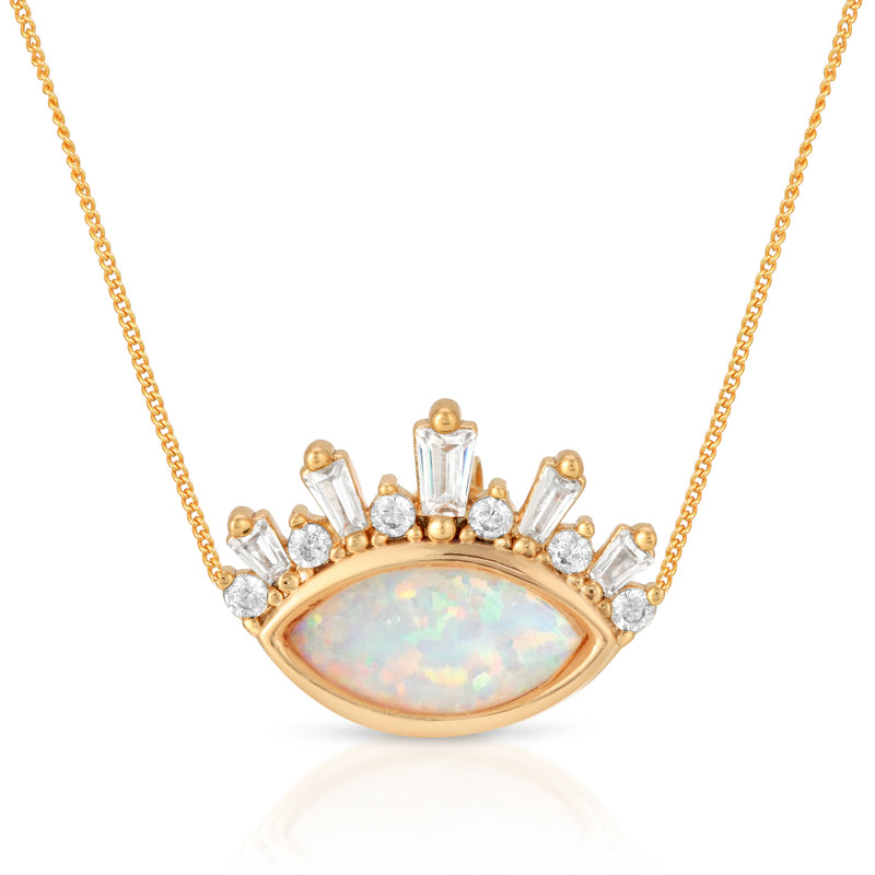 Athena Crown Pendant - Opal