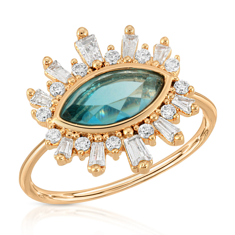 Athena Ring - Blue Tourmaline