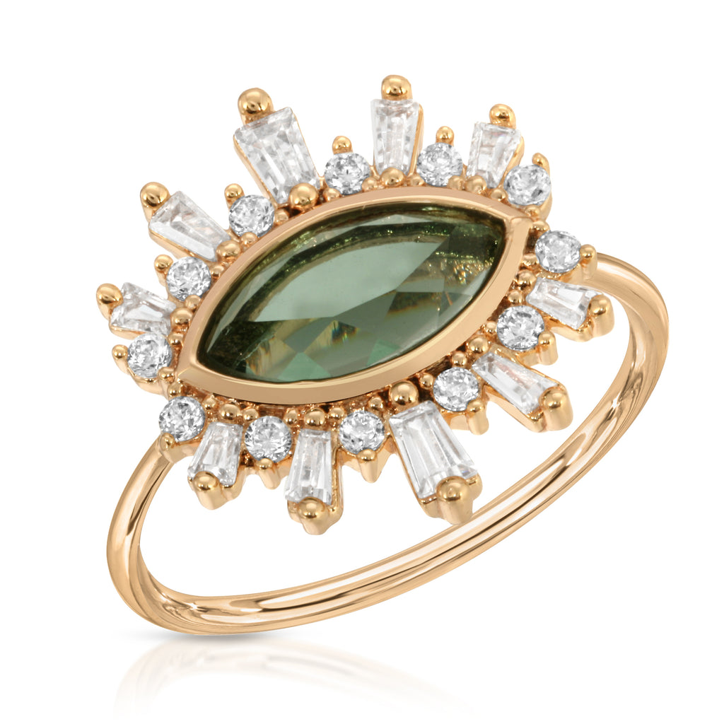Athena Ring - Green Tourmaline
