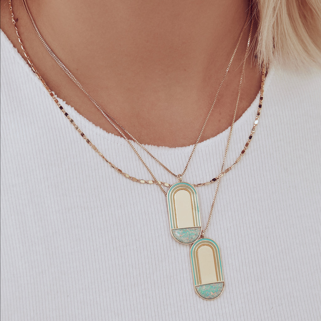 Shimmer Flat Chain Necklace