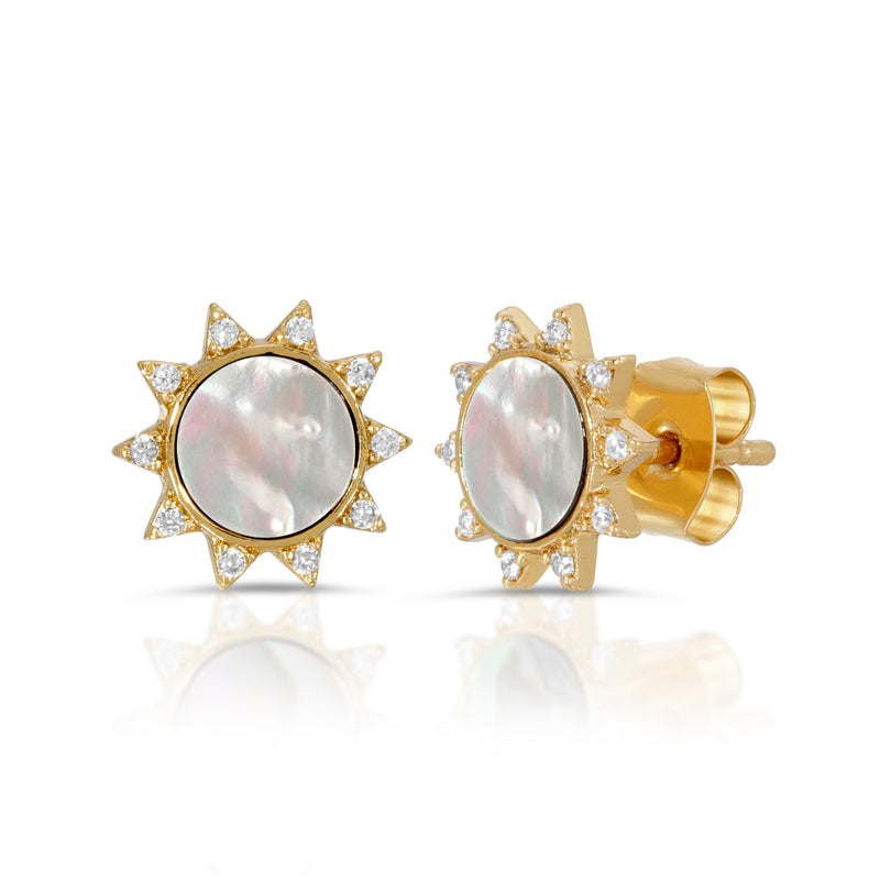 Soleil Studs - Mother of Pearl