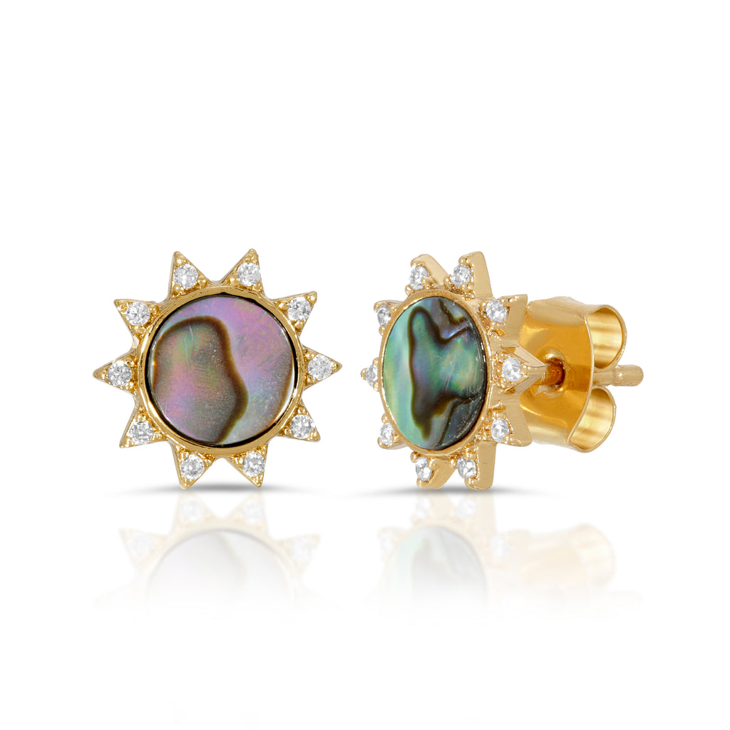 Soleil Studs - Abalone