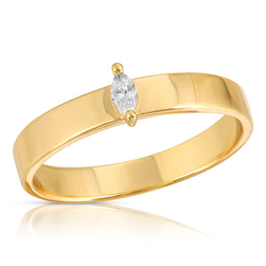 CZ Marquise Band