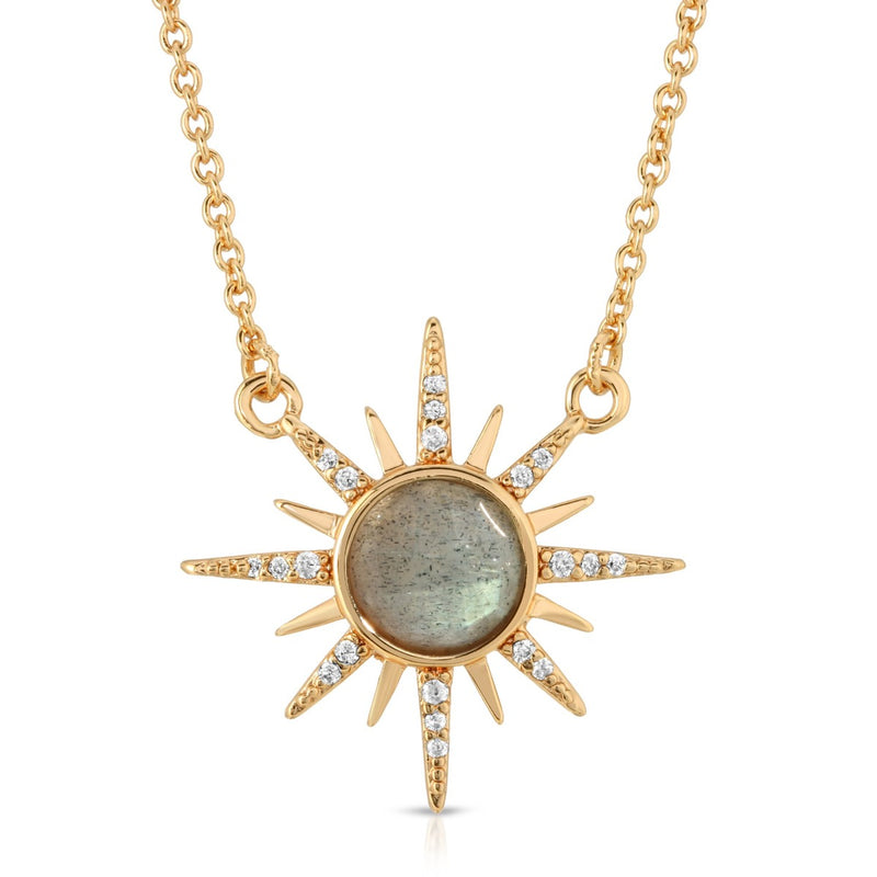 Gemstone Starburst Necklace - Labradorite