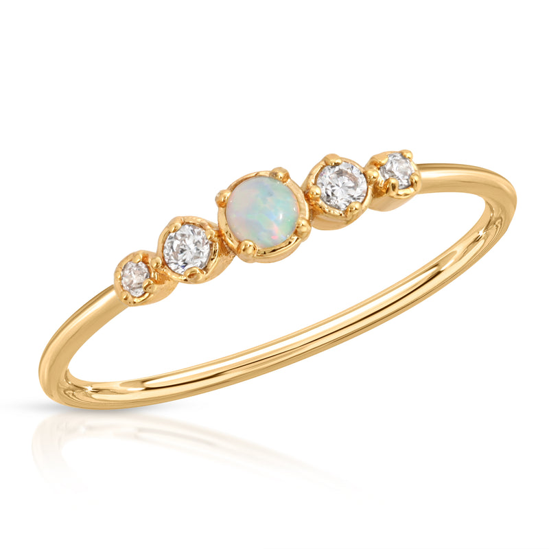 Opal CZ Stacking Ring