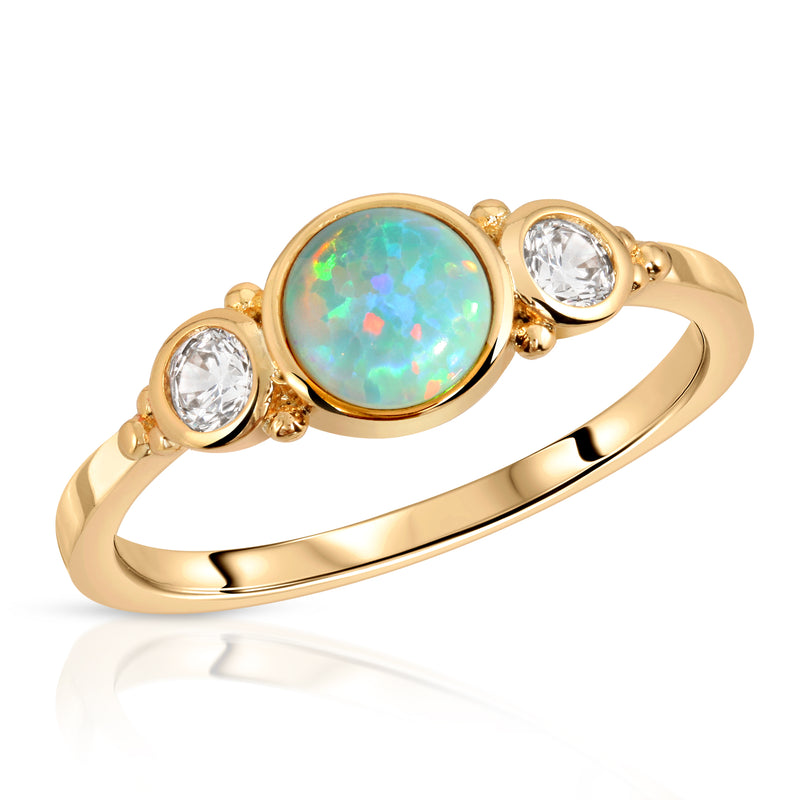Royal Gemstone Ring - Aqua Opal