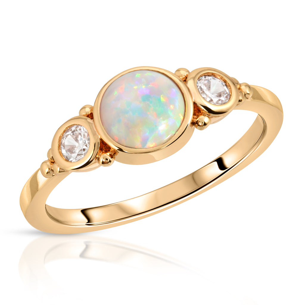 Royal Gemstone Ring - white opal