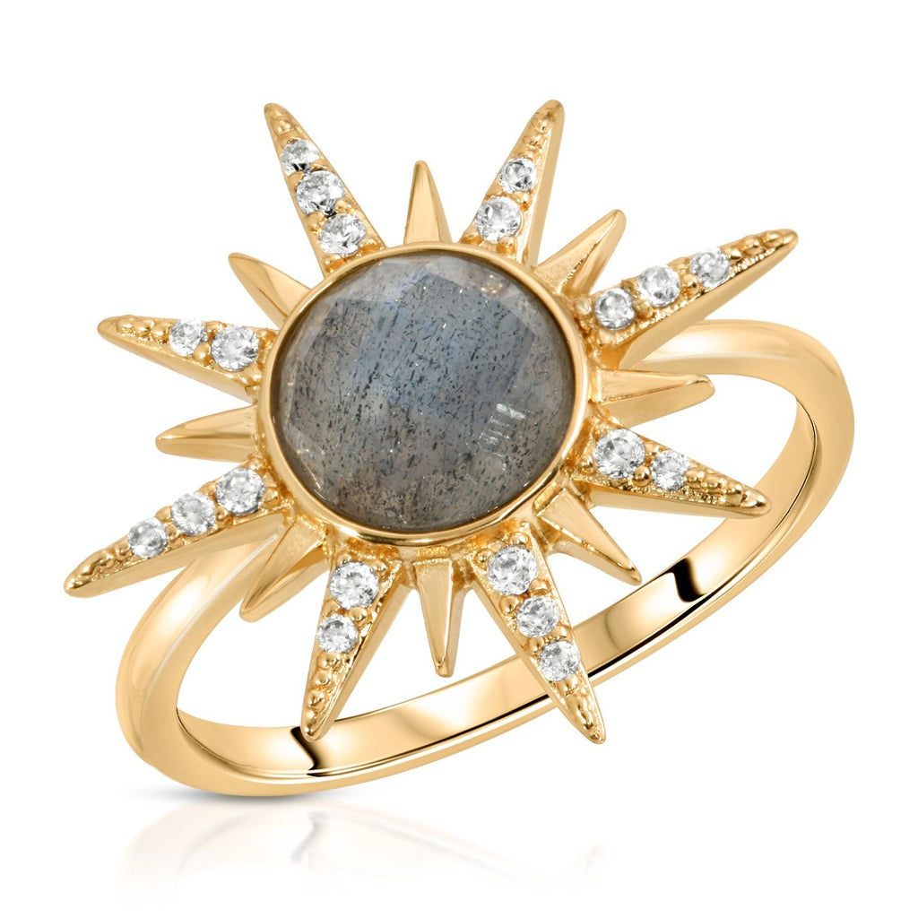 Gemstone Starburst Ring - Labradorite