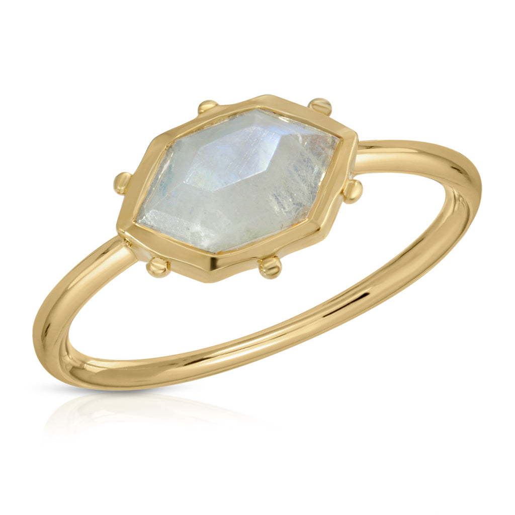 Hex Ring - Moonstone