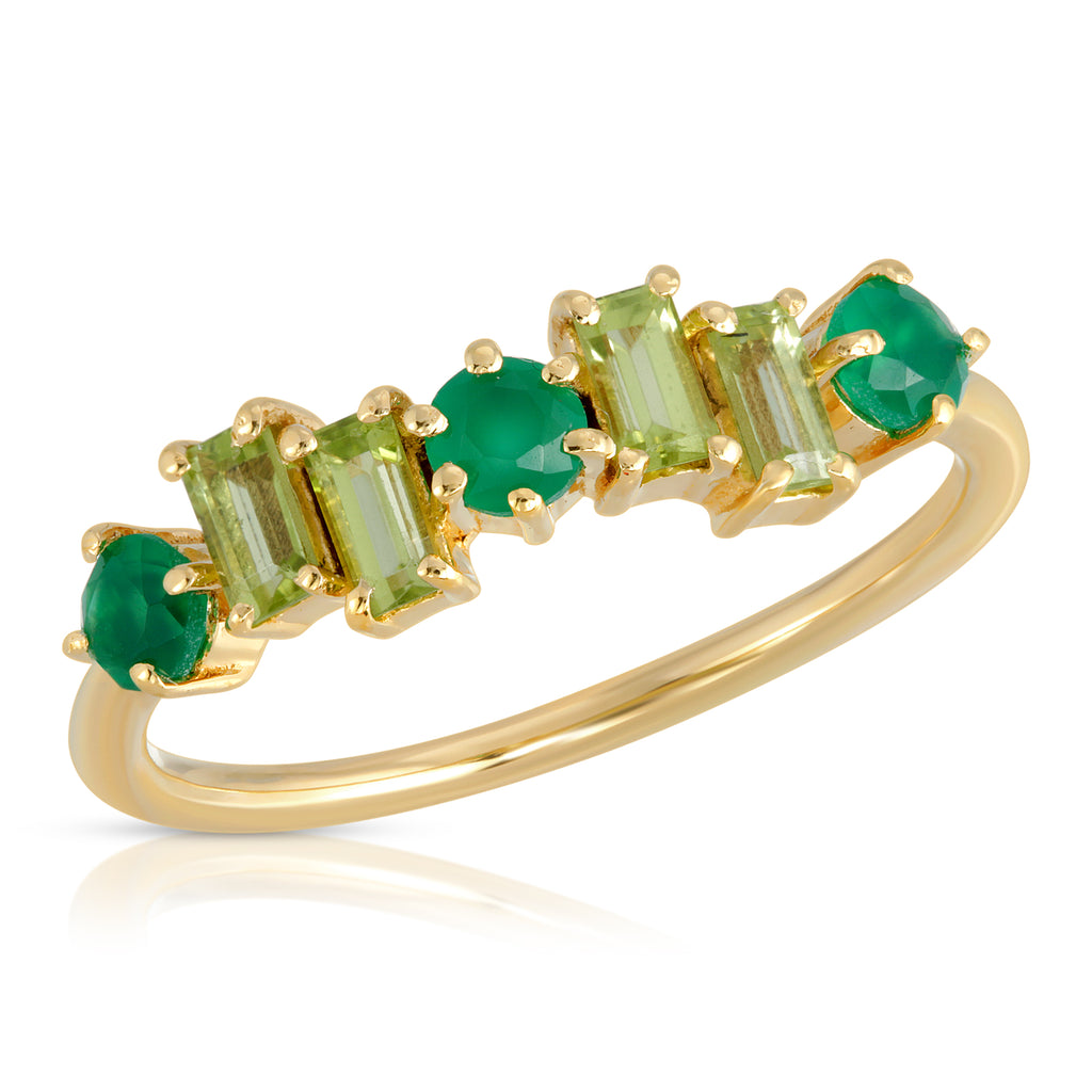 Calypso Ring - Peridot and Green Onyx