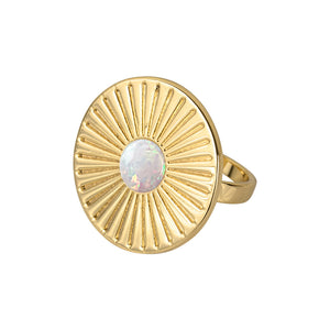Radiant Cocktail Ring - White Opal