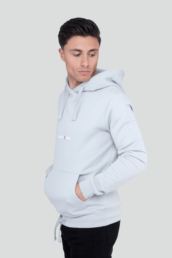 Classic Logo Pullover Grey Hoodie