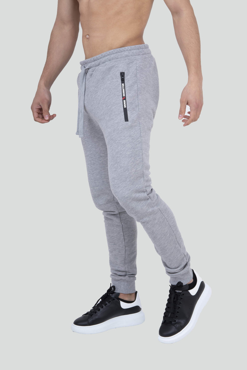 Zip Detail Cuff Grey Jogger