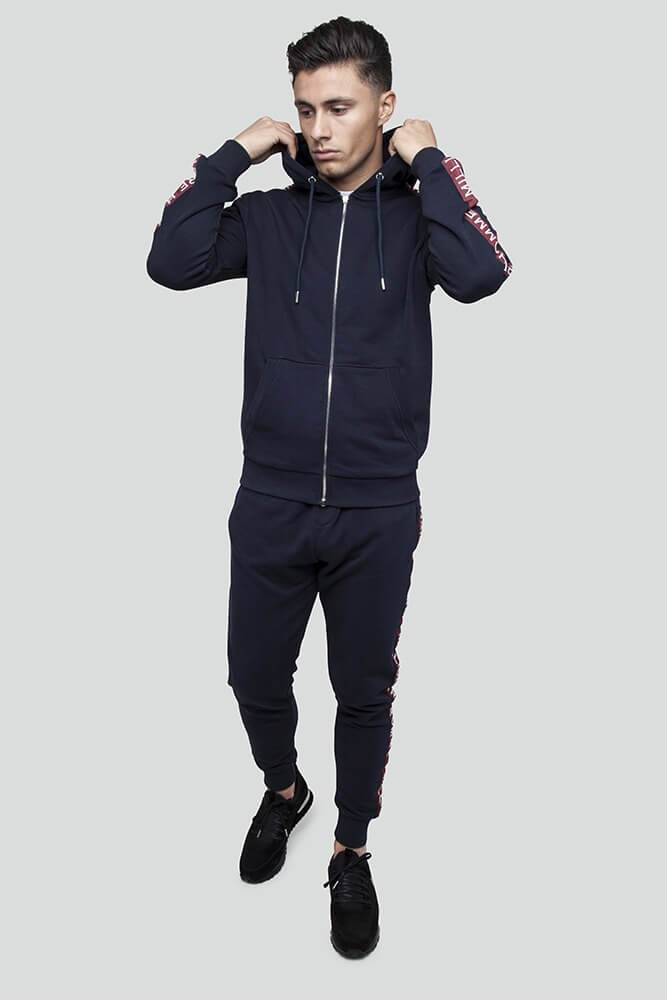 Classic Taped Navy Hoodie