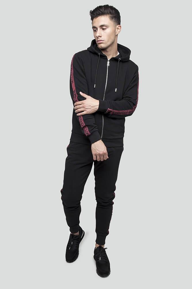 Classic Taped Black Hoodie