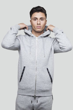 Essential Zip Through Grey Hoodie