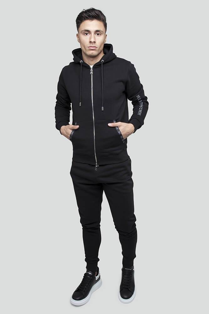 Essential Zip Through Black Hoodie
