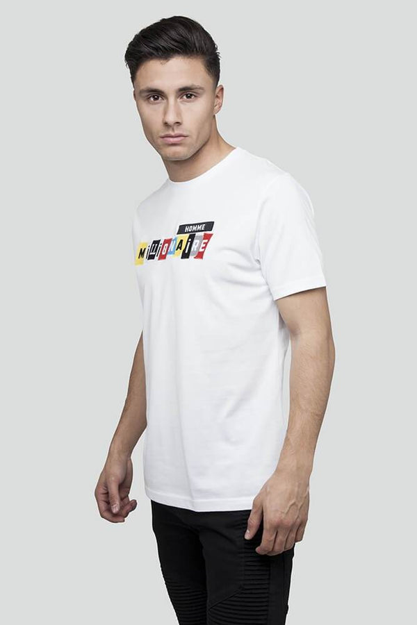 Patchwork White T-Shirt