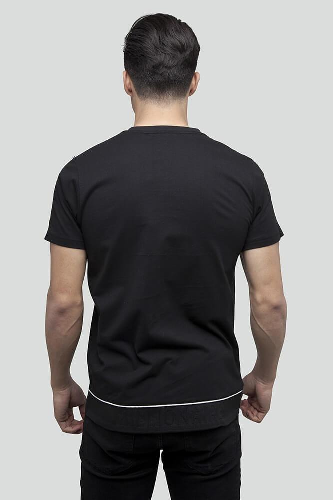 Raised Jacquard Black T-Shirt