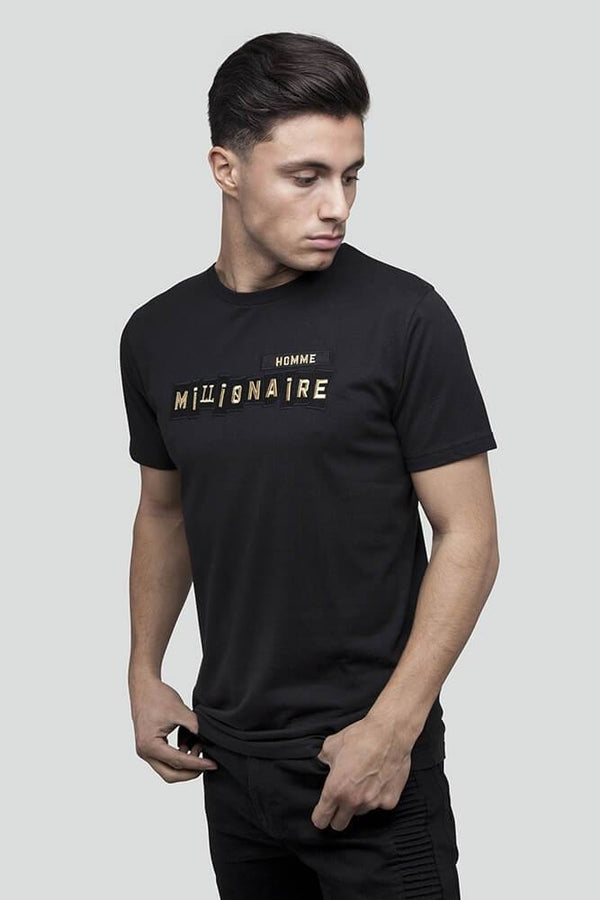 Patchwork Black Gold T-Shirt