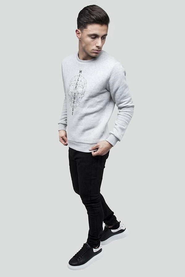 Skull Grey Jumper