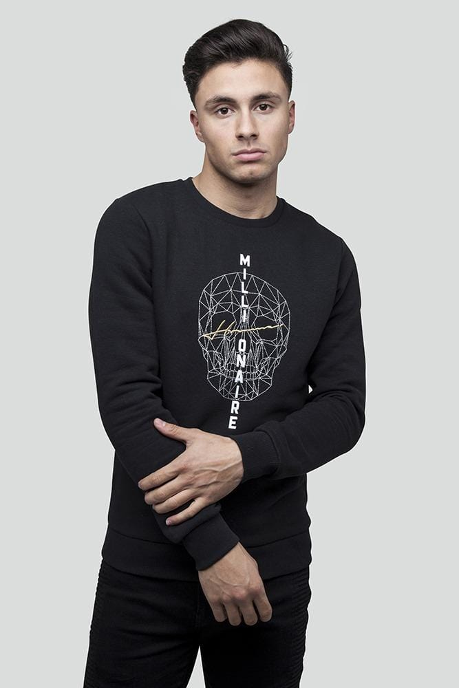 Skull Black Jumper
