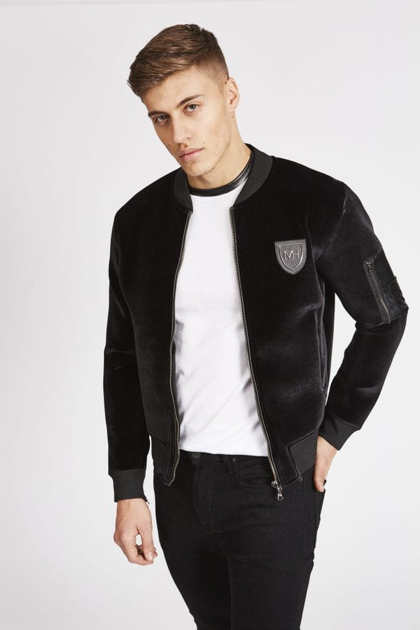 Signature Black Bomber Jacket