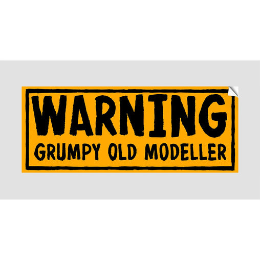 GRUMPY OLD MODELER STICKER