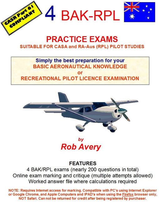 4 BAK Practice Exams (Avfacts) Hard Copy