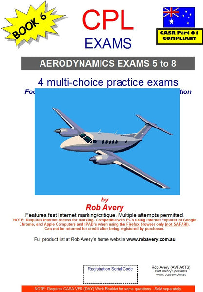 4 CPL Aerodynamics Book of Exams No 5 to No 8