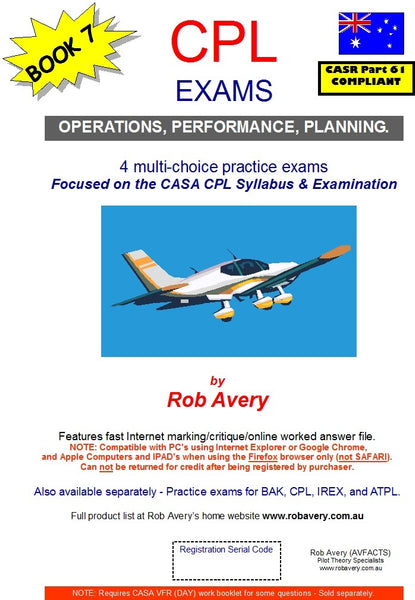 4 CPL Op's,Planning & Performance Exam Book