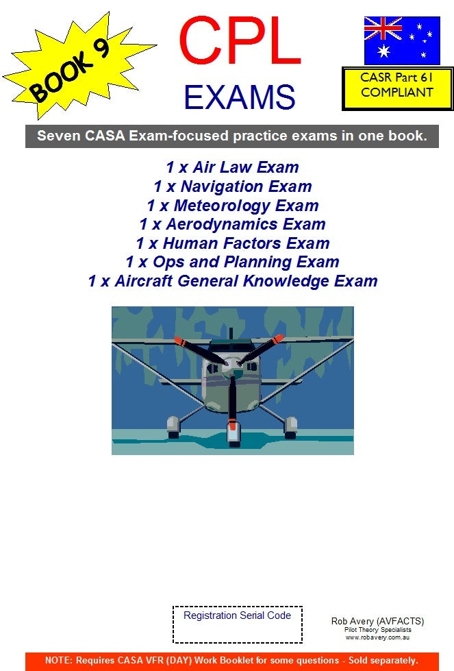 "Book of 7 x ""CPL EXAMS"" (1 for each CPL subject)"