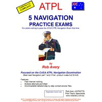 Set of 5 ATPL Navigation practice exams in one book (ANAV)
