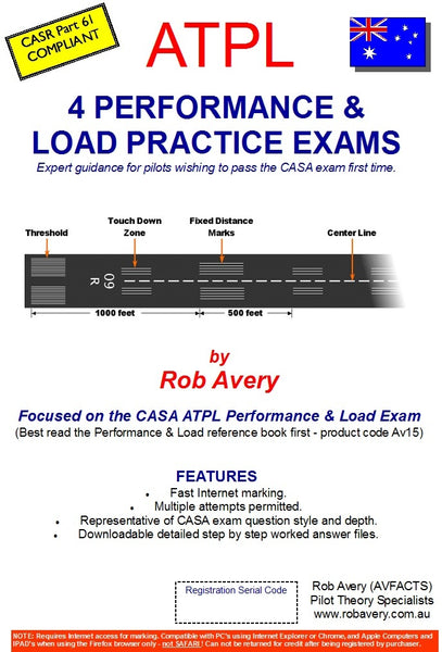 Book of 4 ATPL Performance and Loading practice exams