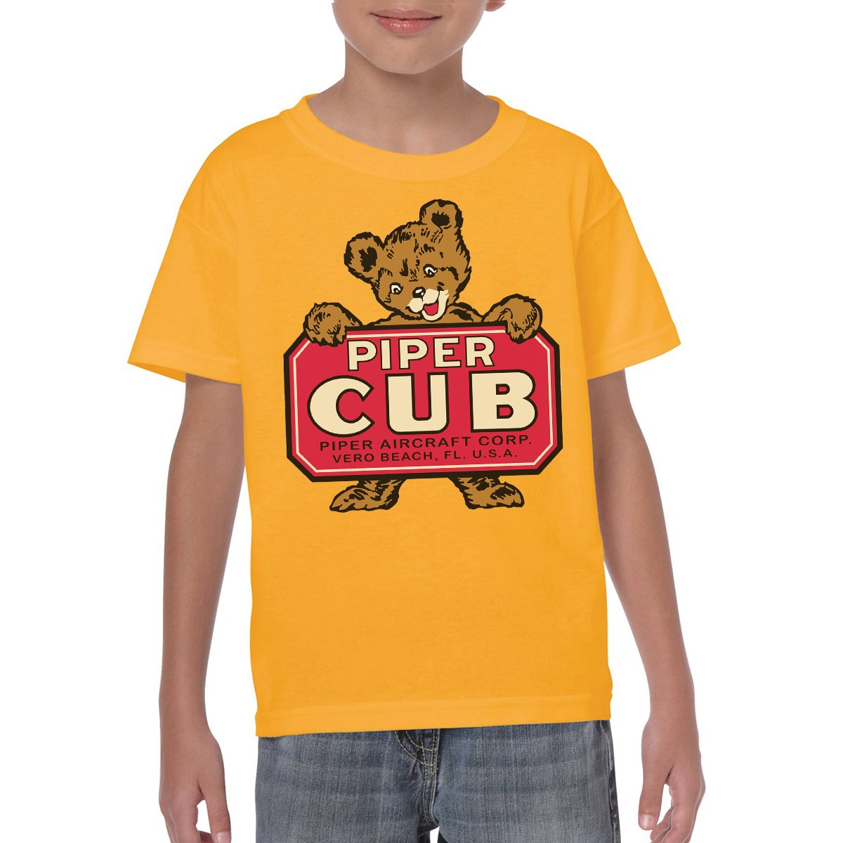 PIPER CUB Youth Semi-Fitted T-Shirt